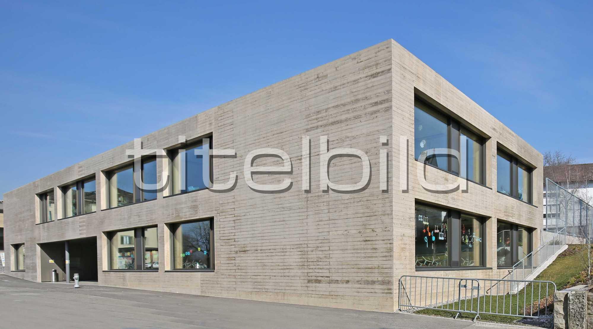 Projektbild-Nr. 1: Neubau Schul- und Mehrzweckgebäude Blatten